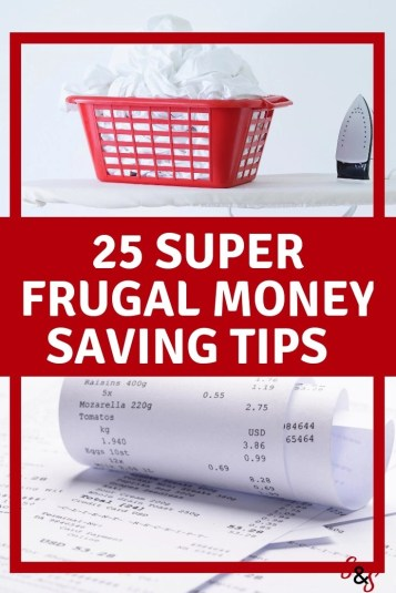 Do you struggle with saving money? Are you looking for ways to cut your expenses? Here are 25 awesome frugal living tips my family uses to save money.