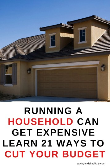 Running a home can get expensive. Including mortgage and utiltiy costs.  Learn 21 ways you can cut those household costs and save money.