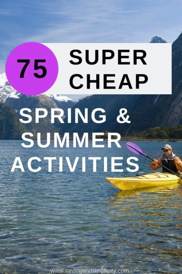 Are you looking for great family fun? Super cheap, frugal Spring & Summer Activities to occupy the kids. Weekend or vacation activities. Staycation ideas.