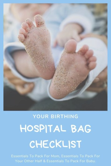 Are you nearing your baby's due date? Learn the essentials you need to pack for you, your other half and your newborn baby. Birthing hospital bag checklist