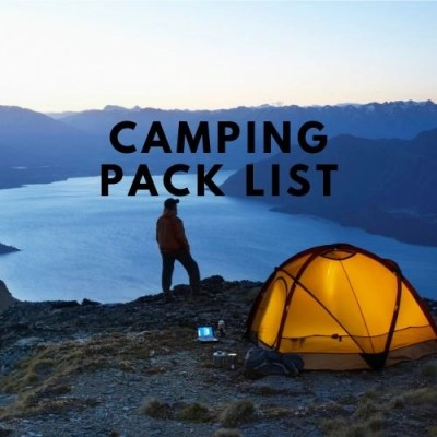 Camping Pack List