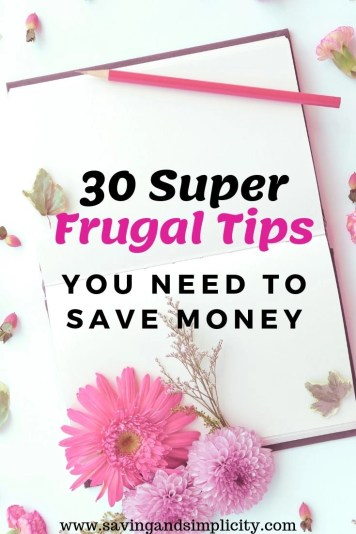 super frugal tips