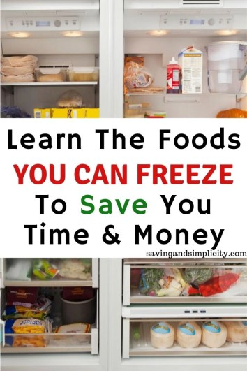 Did you know you can save time and money with your freezer. Discover 40 things you can freeze to save you time and money. Some of them may surprise you.