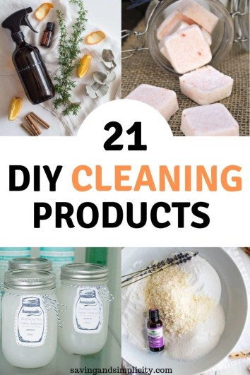 21 DIY cleaning products that will save you so much money. Homemade cleaning solutions are super easy to make, healthier for you and cost a fraction of the store bought products.