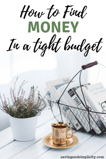 Living on a tight budget is stressful and hard. Shopping sales, cutting coupons and budgeting. Learn 5 easy ways to find money in an already tight budget.