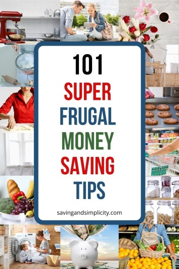 101 super frugal money saving tips