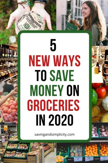 Is 2020 your year to discover new ways to save money on groceries? Has your grocery spending gotten you down? Learn 5 new ways to save money on groceries.