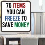 75 items you can freeze