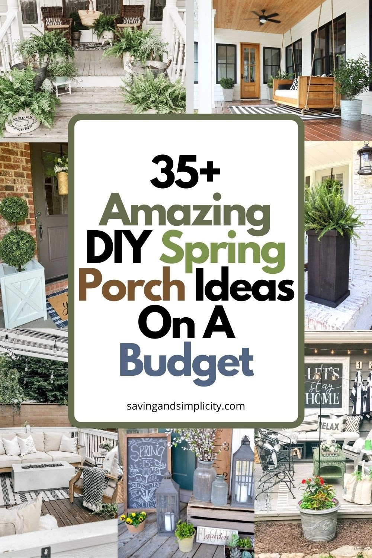 35 amazing diy spring porch ideas on a