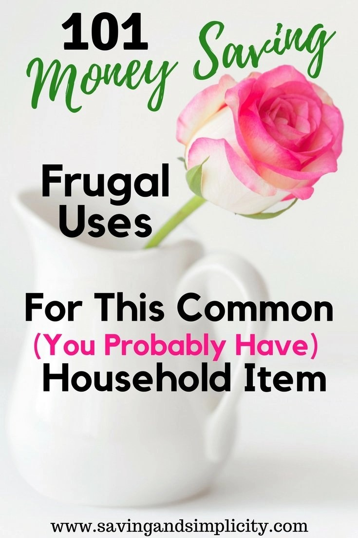 One simple household ingredient can save you thousands of dollars on your  household expenses. 101