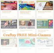 FREE Online Craft Classes with Craftsy!