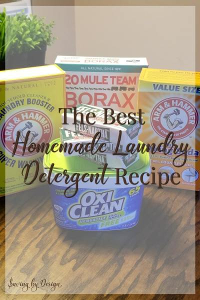Homemade Laundry Detergent – The Best Laundry Detergent You'll Ever Try!
