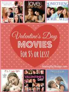 Valentine's Day Movies $5 or Less!