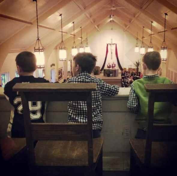 the boys in church