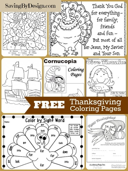 thanksgiving coloring pages free # 75