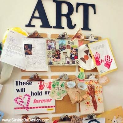 Creative Ways for Displaying Artwork From Your Kids