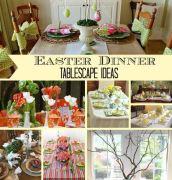 Easter Dinner Tablescape Ideas