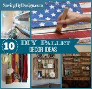 10 DIY Pallet Decorating Ideas