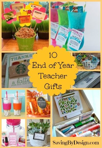 10 Fun End of Year Teacher Gifts They'll Love