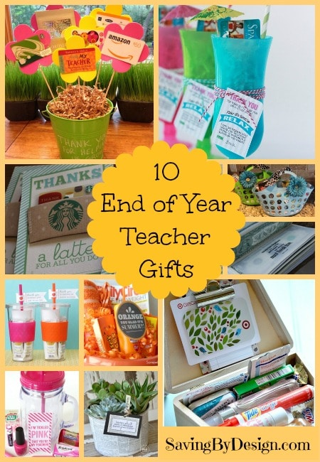 Show your favorite teacher how much you appreciate everything they do for your kids with these 10 fun end of year teacher gifts they'll love!