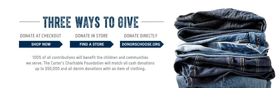 B'gosh Jeanius Campaign - Ways to Donate