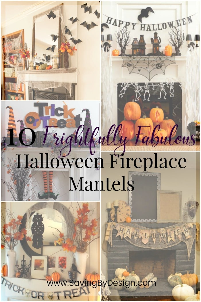 TheseHalloween fireplace mantelswill inspire you to create a perfectly decorated seasonal fireplace in your home...I'm sure it's going to be SPOOKtacular!