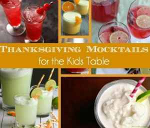 10 Thanksgiving Mocktails for the Kids