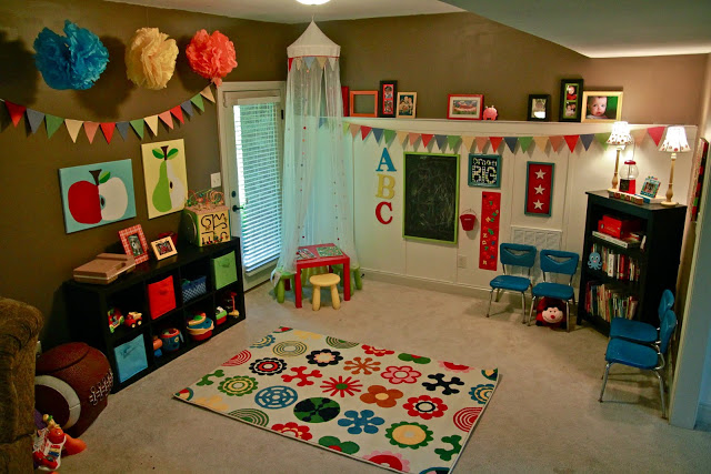 Looking for inspiration? I don't know many children who wouldn't absolutely love any of these bright, colorful, and fun kids playroom ideas!