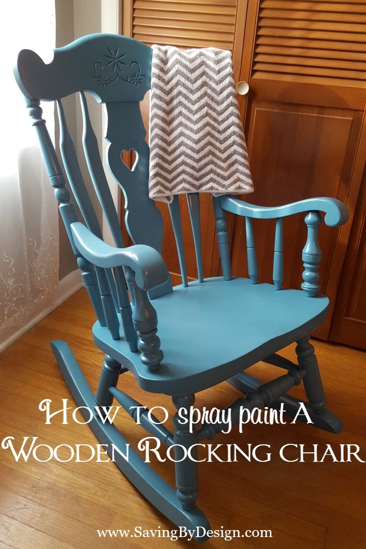 our rocking chair was in need of a makeover for our third child