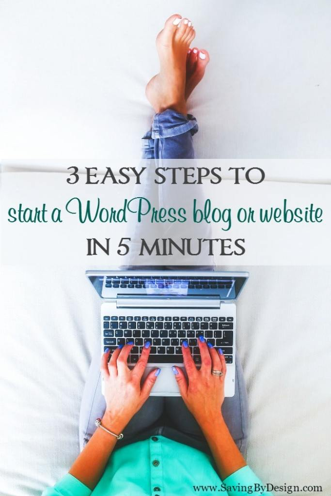 Ready to start a blog? This tutorial will walk you through 3 easy steps to start a WordPress blog or website in 5 minutes.