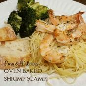 Make the perfect shrimp scampi without standing by the stove to cook it. In just 20 minutes you'll have a meal that you'll never guess was easily baked!