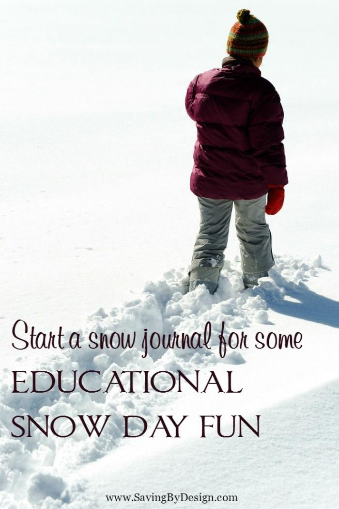 "Use this free printable to create a ""Snow Journal"" to track the snowfall during storms over the years. The kids will love this educational snow day fun!"