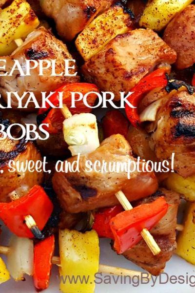 Pineapple Teriyaki Pork Kabobs – Salty, Sweet, and Scrumptious!