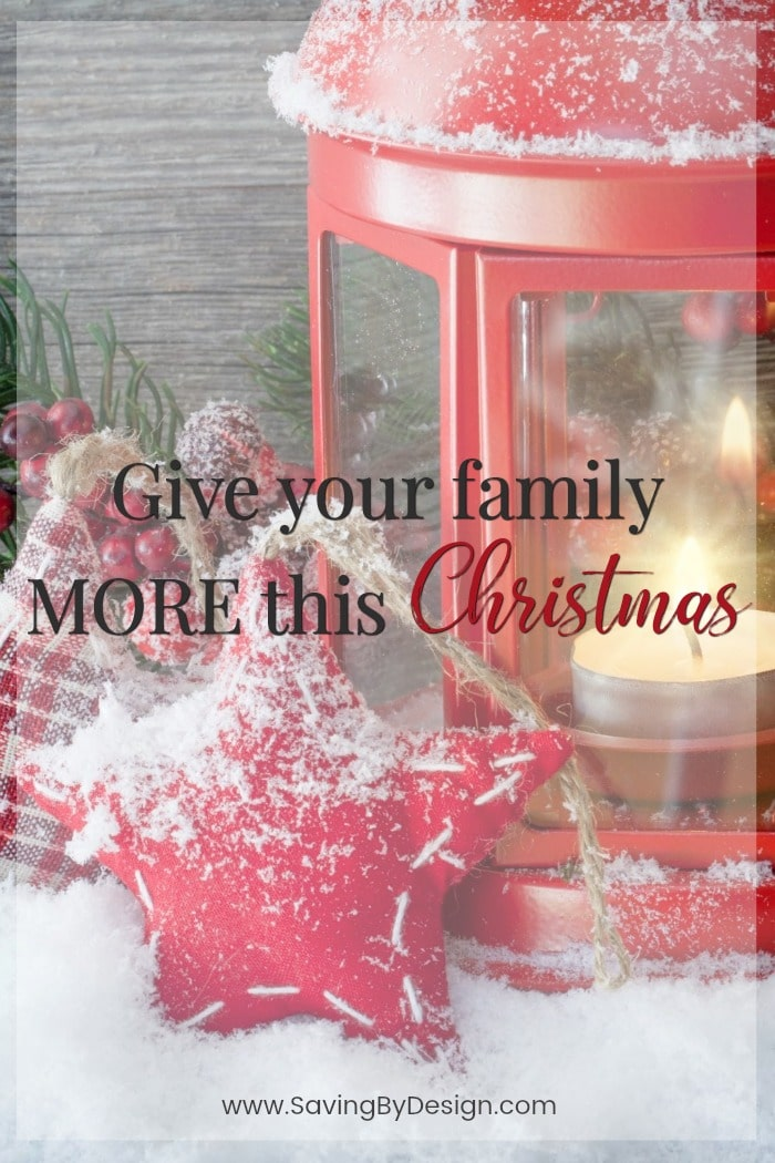 Help your children understand the true meaning of the holidays while giving your family more this Christmas with the 25 Days of Togetherness challenge!
