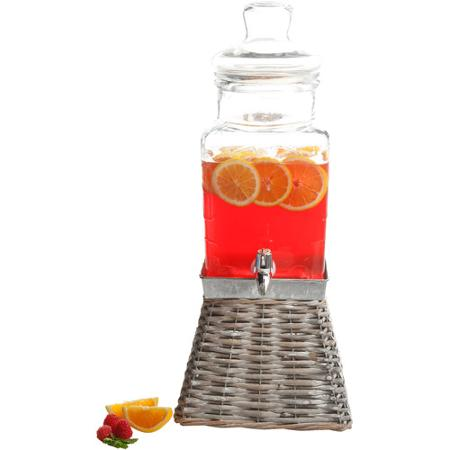 Walmart Deal Of The Day: 1.32 gal Glass Drink Dispenser with Square Basket Base { Just $14.97! }