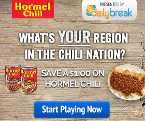 Hormel Chili Sweepstakes & Coupon!