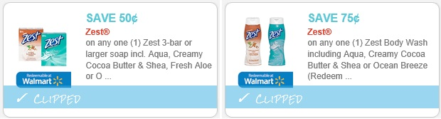 Zest Soap Coupons