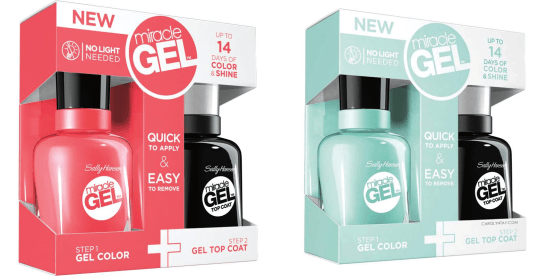 SALLY HANSEN® MIRACLE GEL™ COLOR, TOP COAT OR VALUE PACK