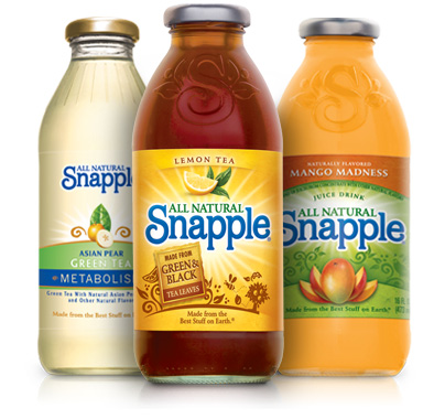 Save $1.00 off TWO Snapple Tea or Juice Drink