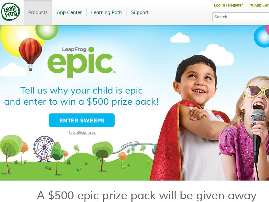 LeapFrog Sweepstakes: Enter to Win a $500 Prize Pack!