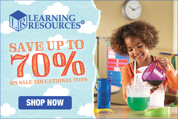 Save up to 70% on Sale Educational Toys and Hands-On Learning Materials