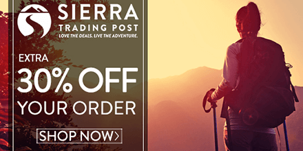 Save An Extra 30% Off Your Order At Sierra Trading Post!