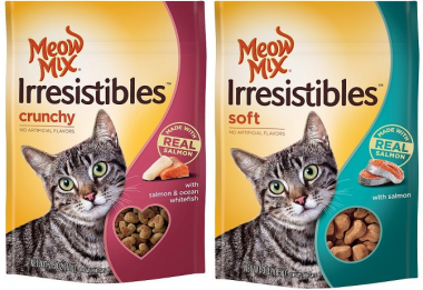 Save $1.00 off any TWO (2) bags of Meow Mix Irresistibles Cat Treats + ShopRite Deal!