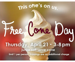 Carvel Free Cone Day – Today!