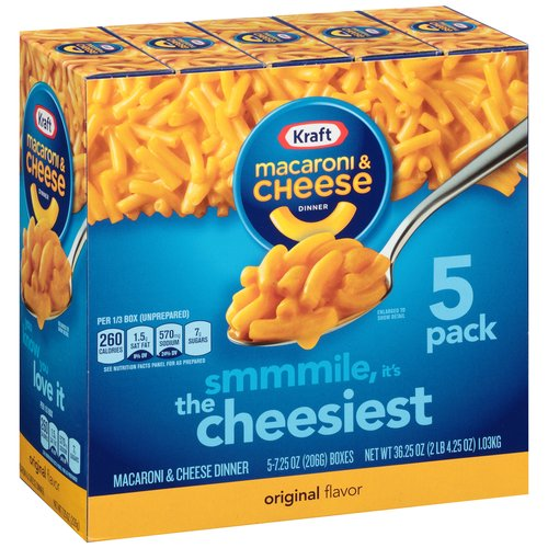 Save – $1.00 off any ONE KRAFT Macaroni and Cheese 5 Pk.
