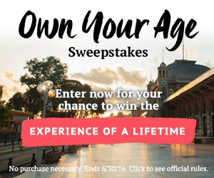 Enter The Own Your Own Age Sweepstakes & Win One Of 3 Grand Prizes