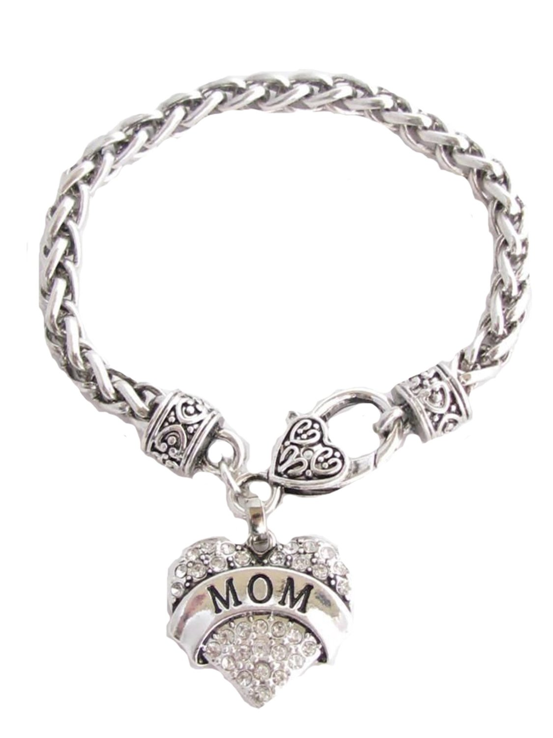 Amazon HOT Deal: Mom Clear Crystals Fashion Lobster Claw Heart Bracelet Only $3.12!