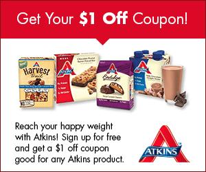 FREE –  Atkins Quick-Start Kit And Coupon!