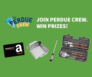 Enter The Perdue Crew Giveaway: Win Amazon Gift Cards, Grilling Sets & more!