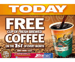 XtraMart – Free Coffee on the 1st of Every Month